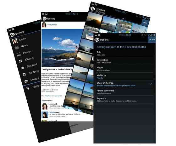 create a photo sharing app ipernity