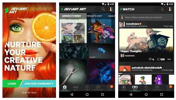 create a photo sharing app like devianart