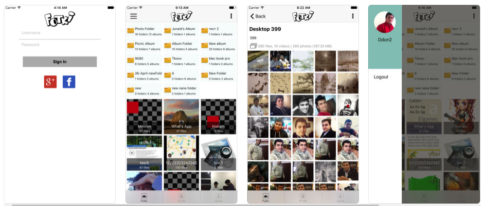 create a photo sharing app Fotki
