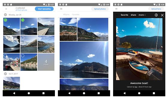 create a photo sharing app yogile