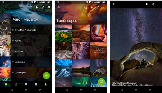 create a photo sharing app Snugmug