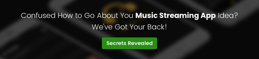 music streaming app development cta 3