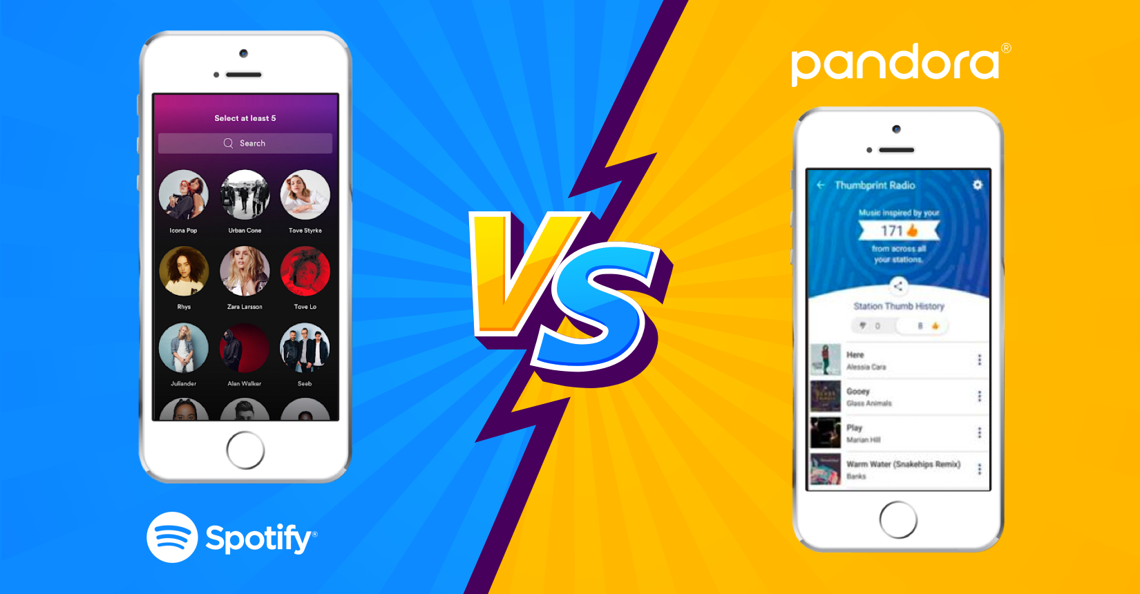 how to make a radio app like Pandora or Spotify battle