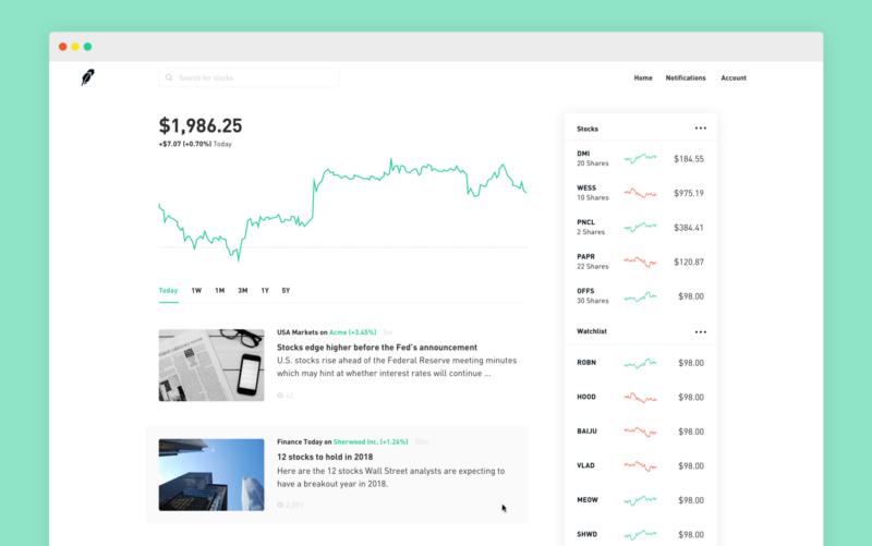 how to create a trading software robinhood