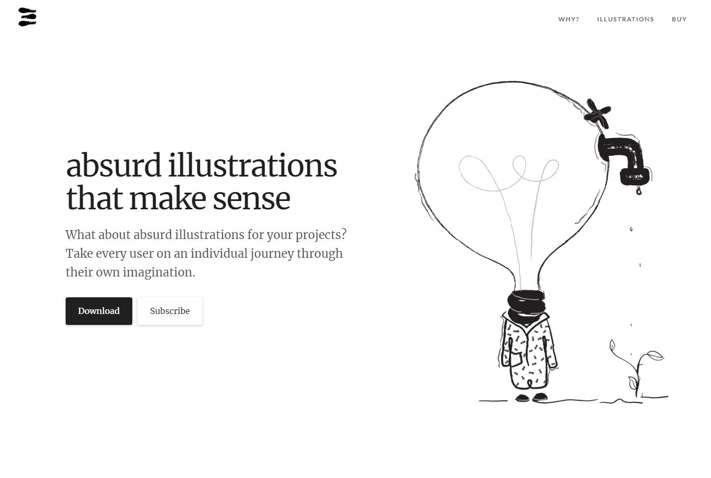 web design trends 2019 absurd design