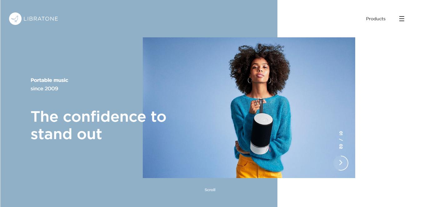 web design trends 2019 Libratone