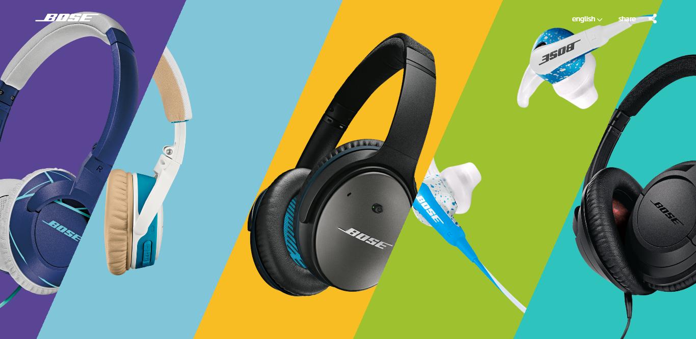 web design trends 2019 bose headphone