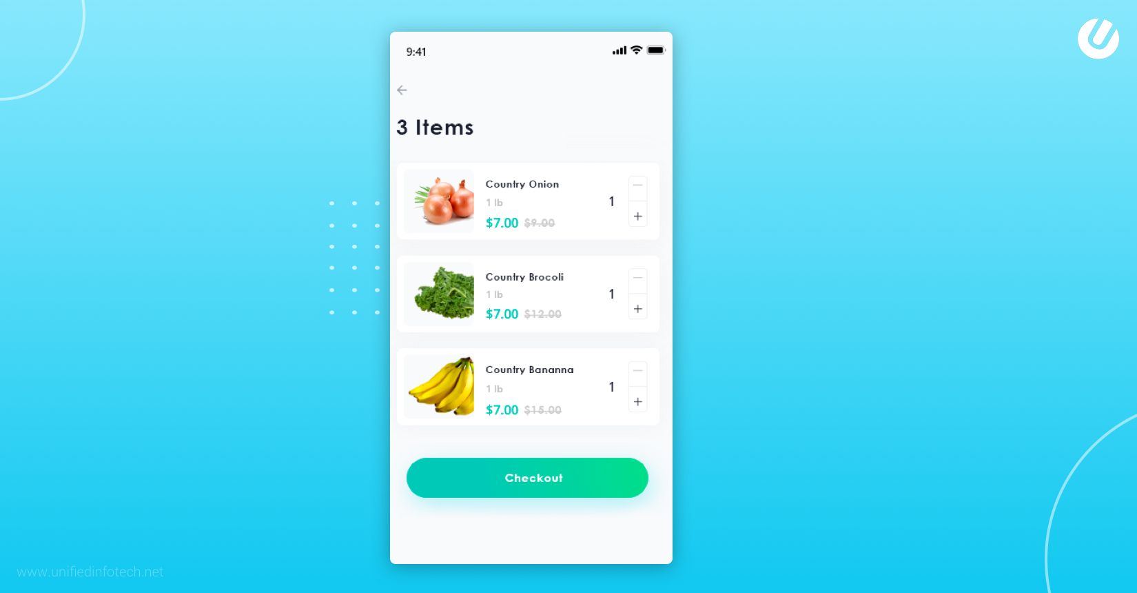 how to build a grocery app add to cart