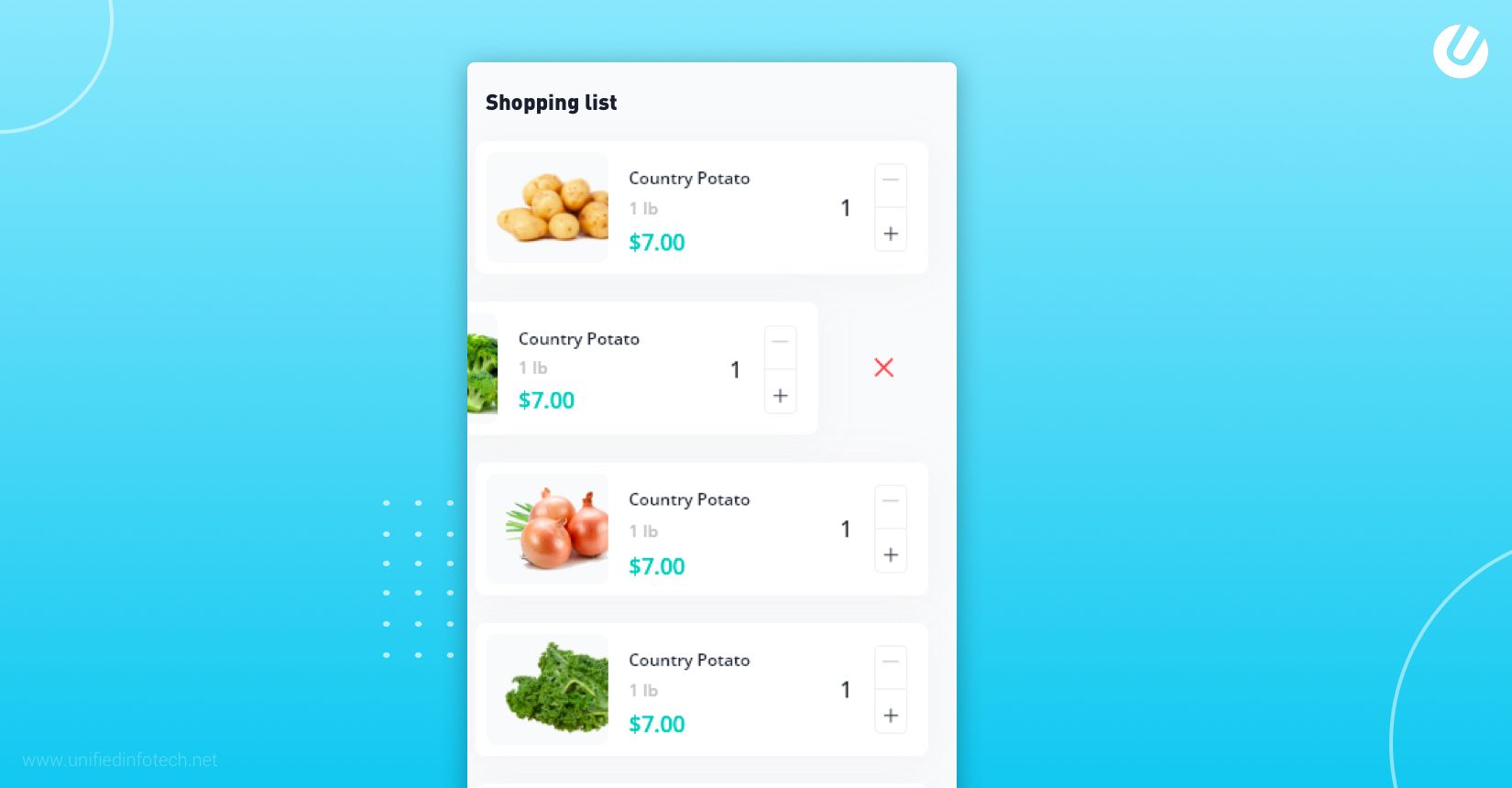 how to build a grocery app with shopping list