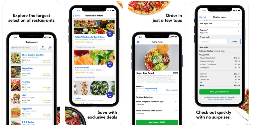 how to make a food delivery app like Grubhub