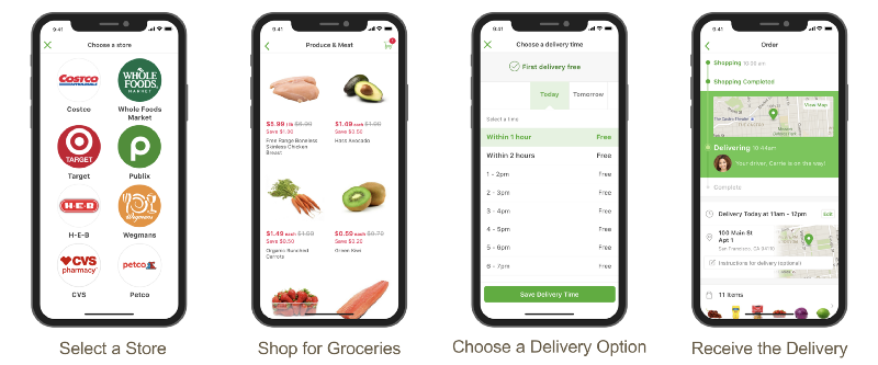 how to build instacart like app screens