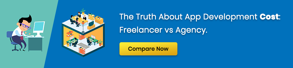 app development cost freelancer vs agency
