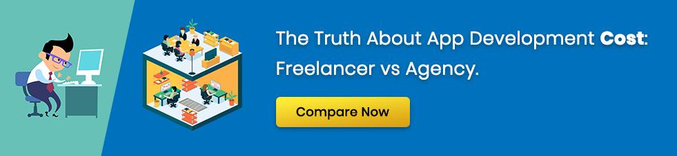 app development cost freelancer vs agency