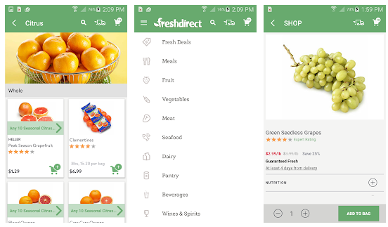 how to build a grocery app like Freshdirect