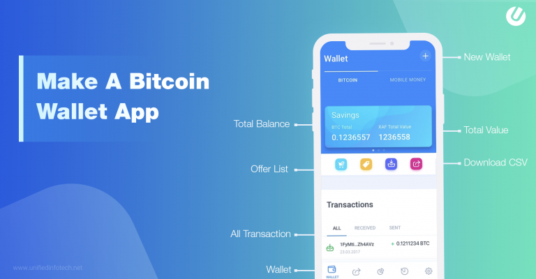 how to make a Bitcoin wallet app