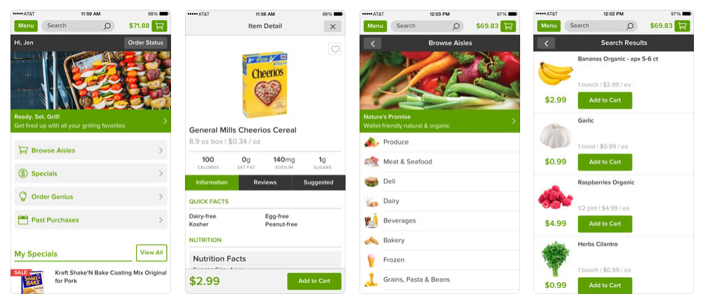 how to build a grocery app like Peapod