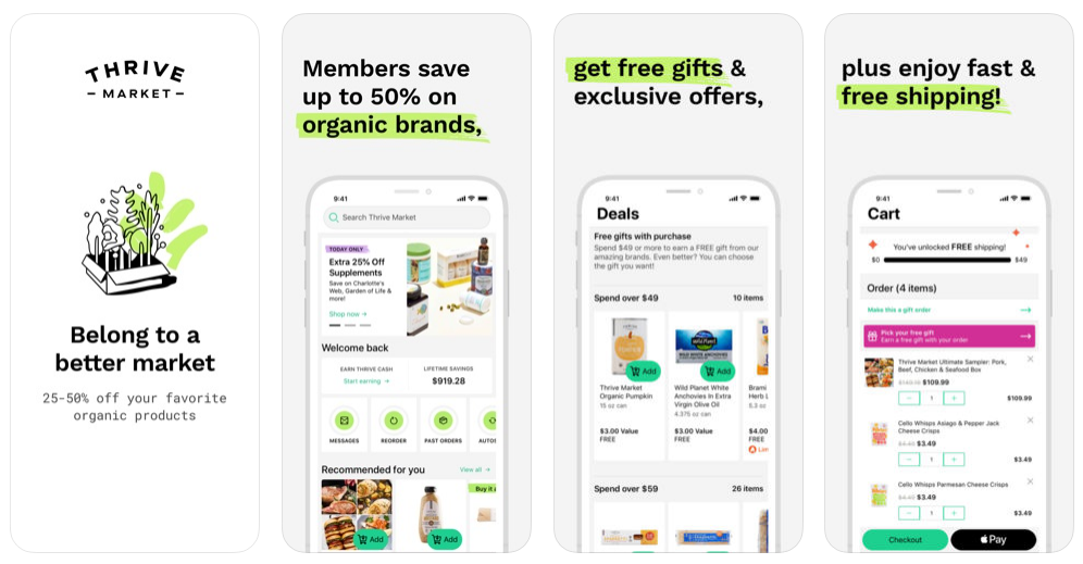how to build a grocery app like Thrivemarket