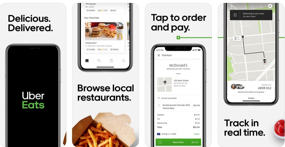 ubereats how to make a food delivery app