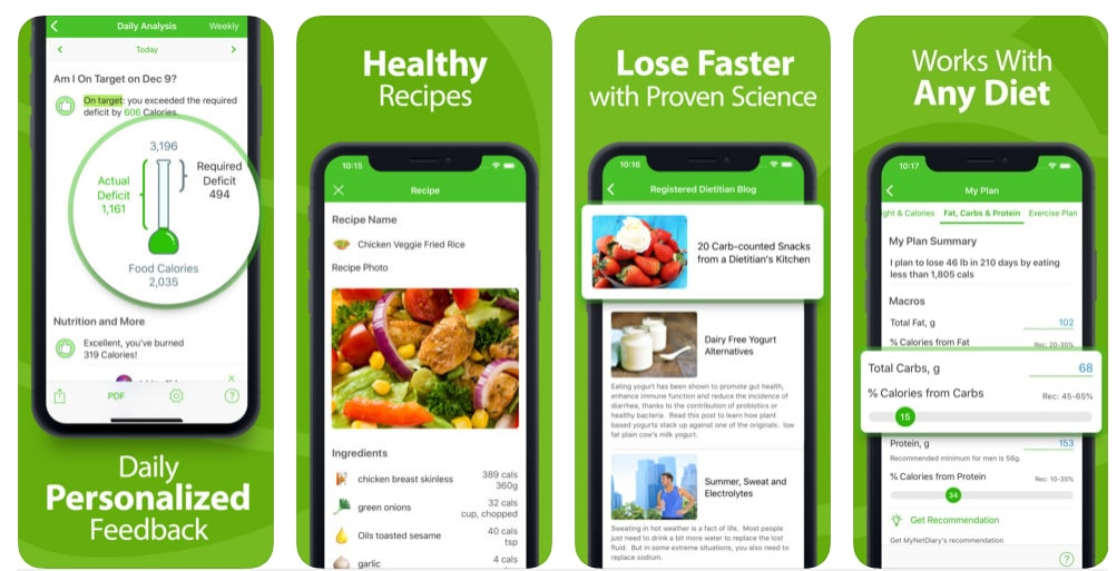 calorie counter health and fitness app development