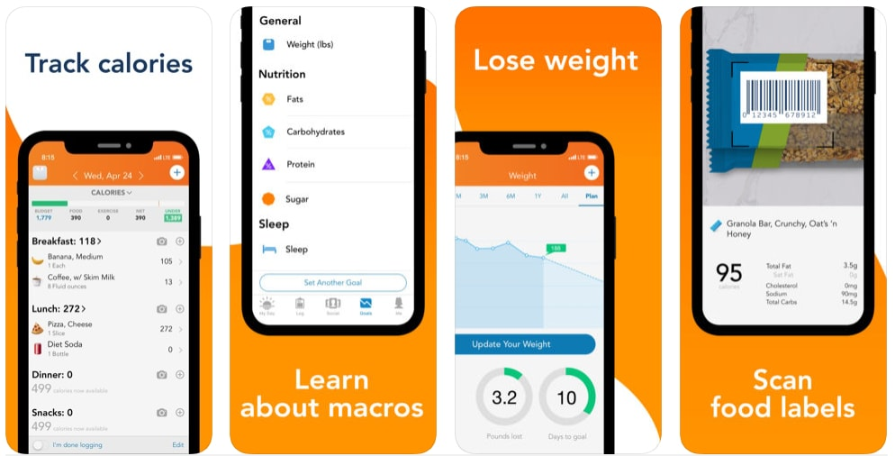 diet and nutrition health and fitness app development