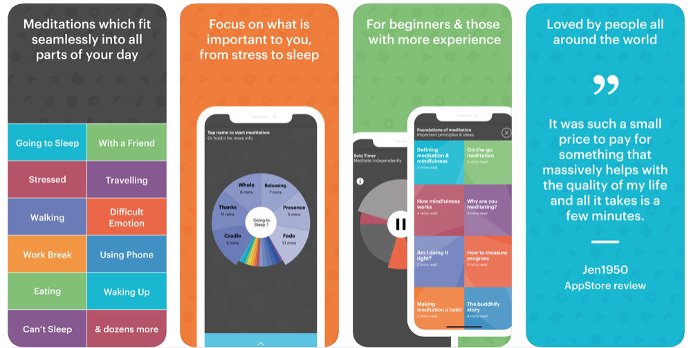 build health and fitness app like buddhify