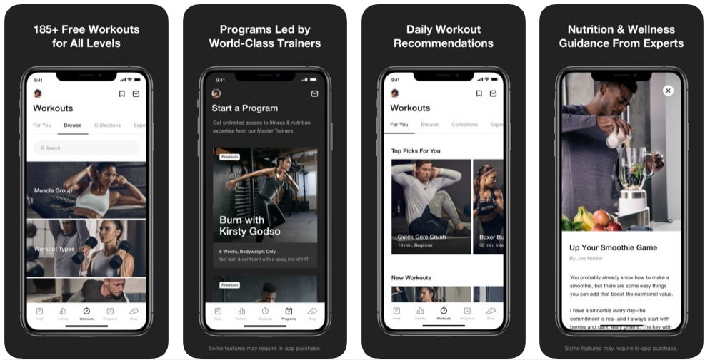 workout health and fitness app development