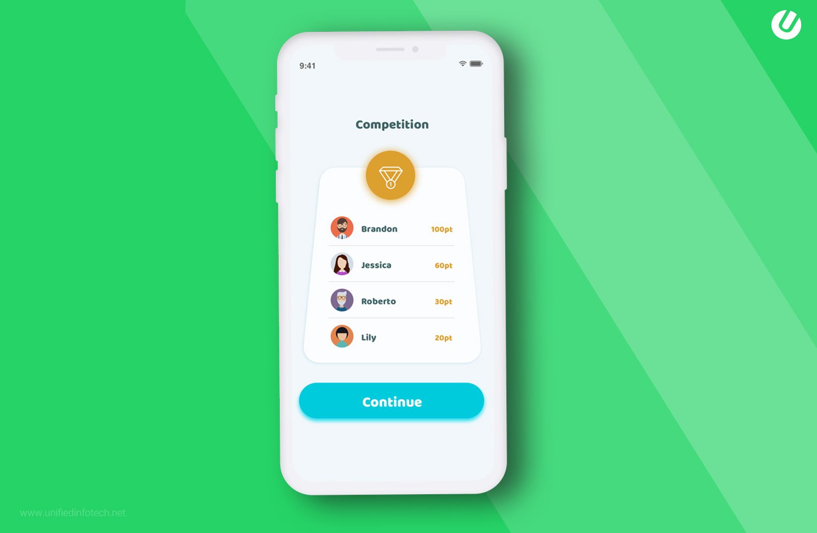 how to make a language learning app by inducing competition