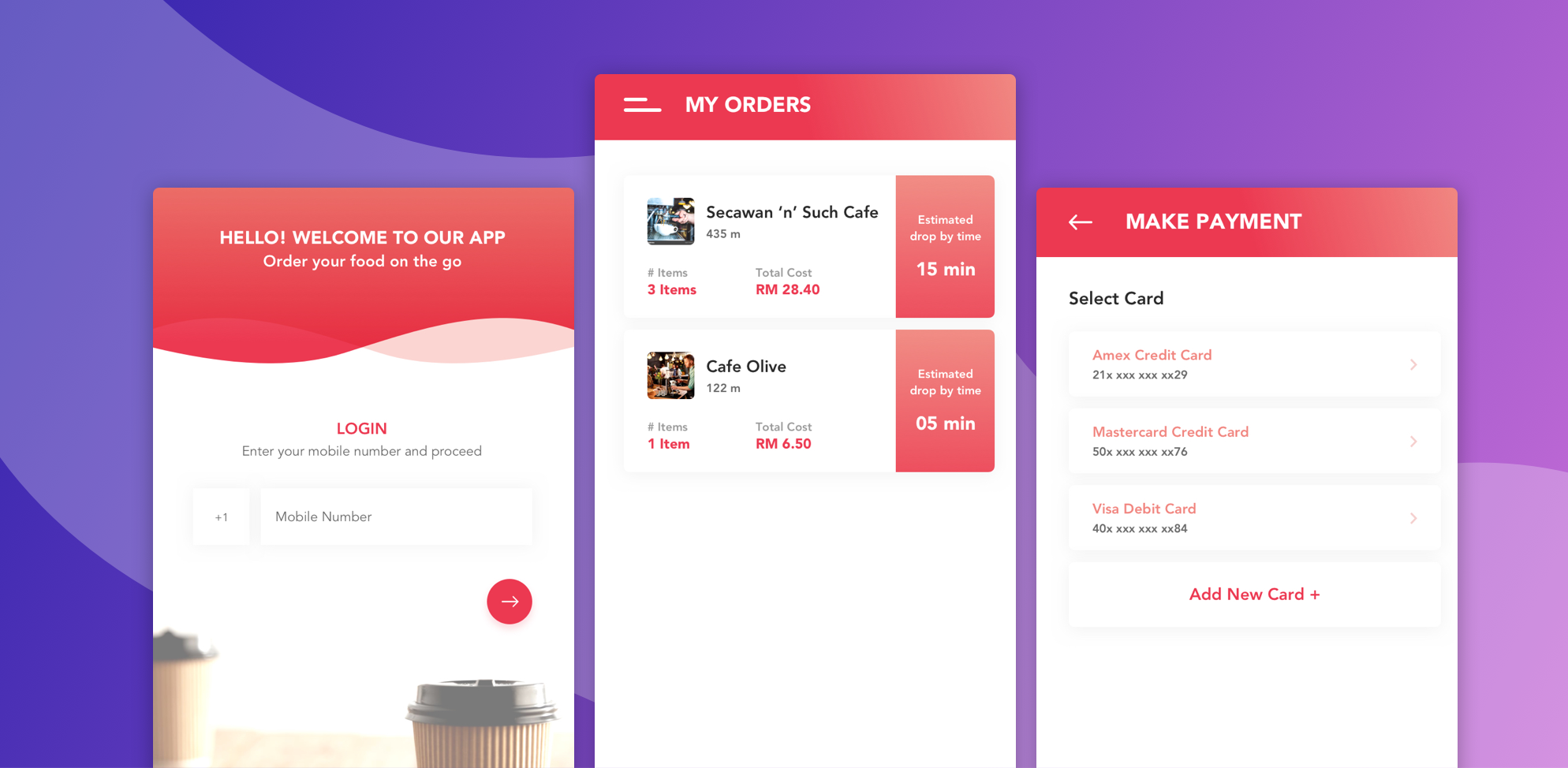 food delivery app features