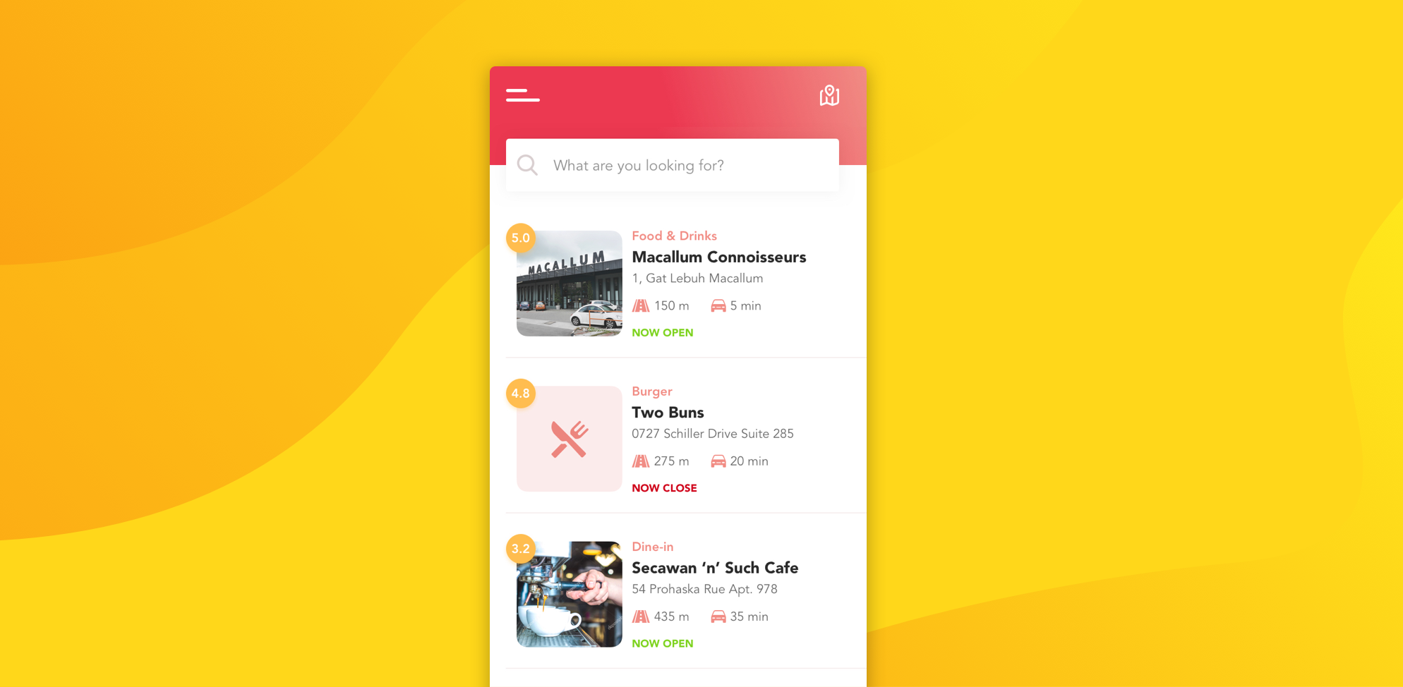 how to make a food delivery app with restaurant listing