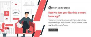 smart home app CTA