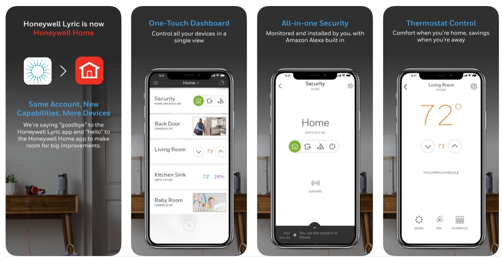 smart home app Honeywell Home