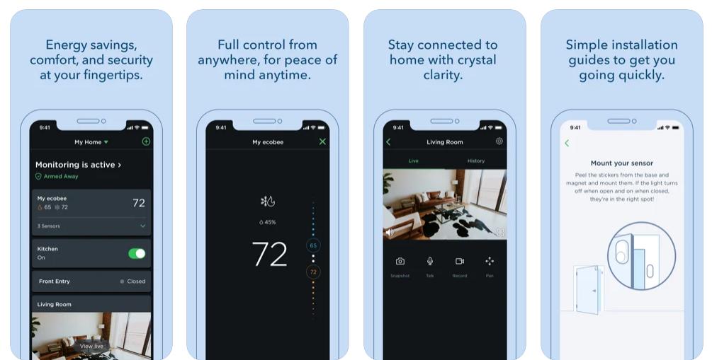 Ecobee smart home application