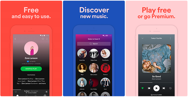 music streaming app development features