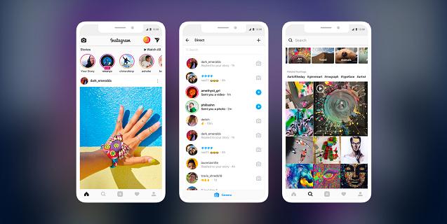 create a photo sharing app screens