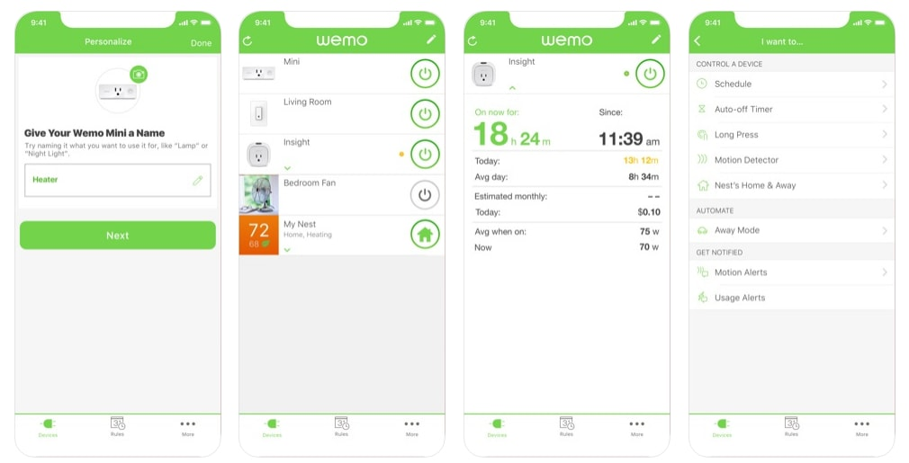 smaty home app like Wemo