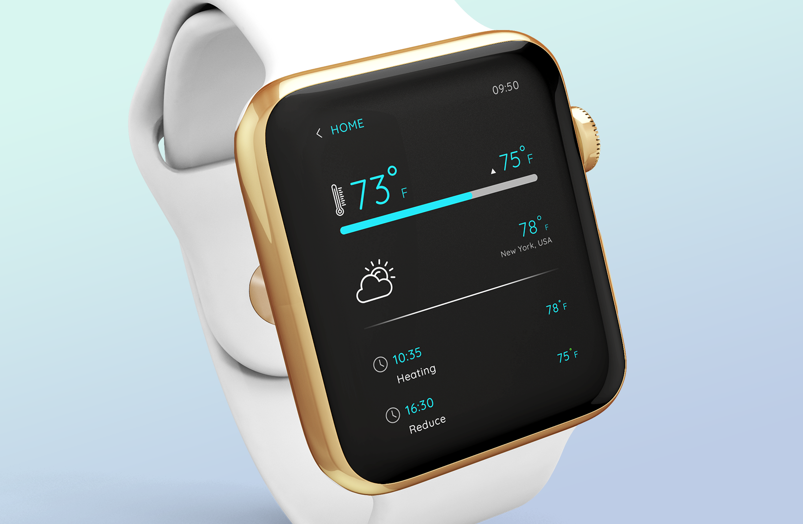 smart home watch app with loaded features
