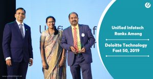 Unified Infotech Recognized As Fastest Growing Company In Deloitte Technology Fast 50 India 2019