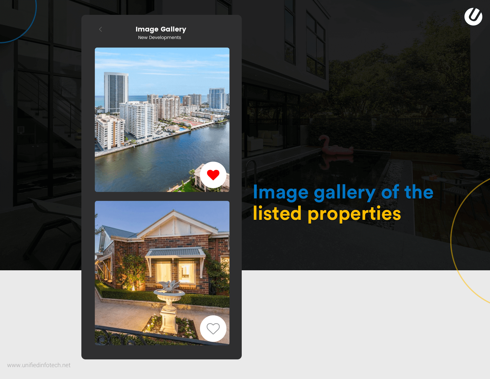 real estate mobile app features