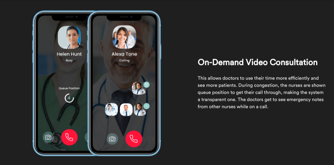 on demand video consultation in healthcare mobile app development