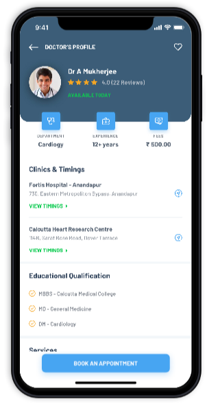 features like doctor's profile in healthcare mobile app development