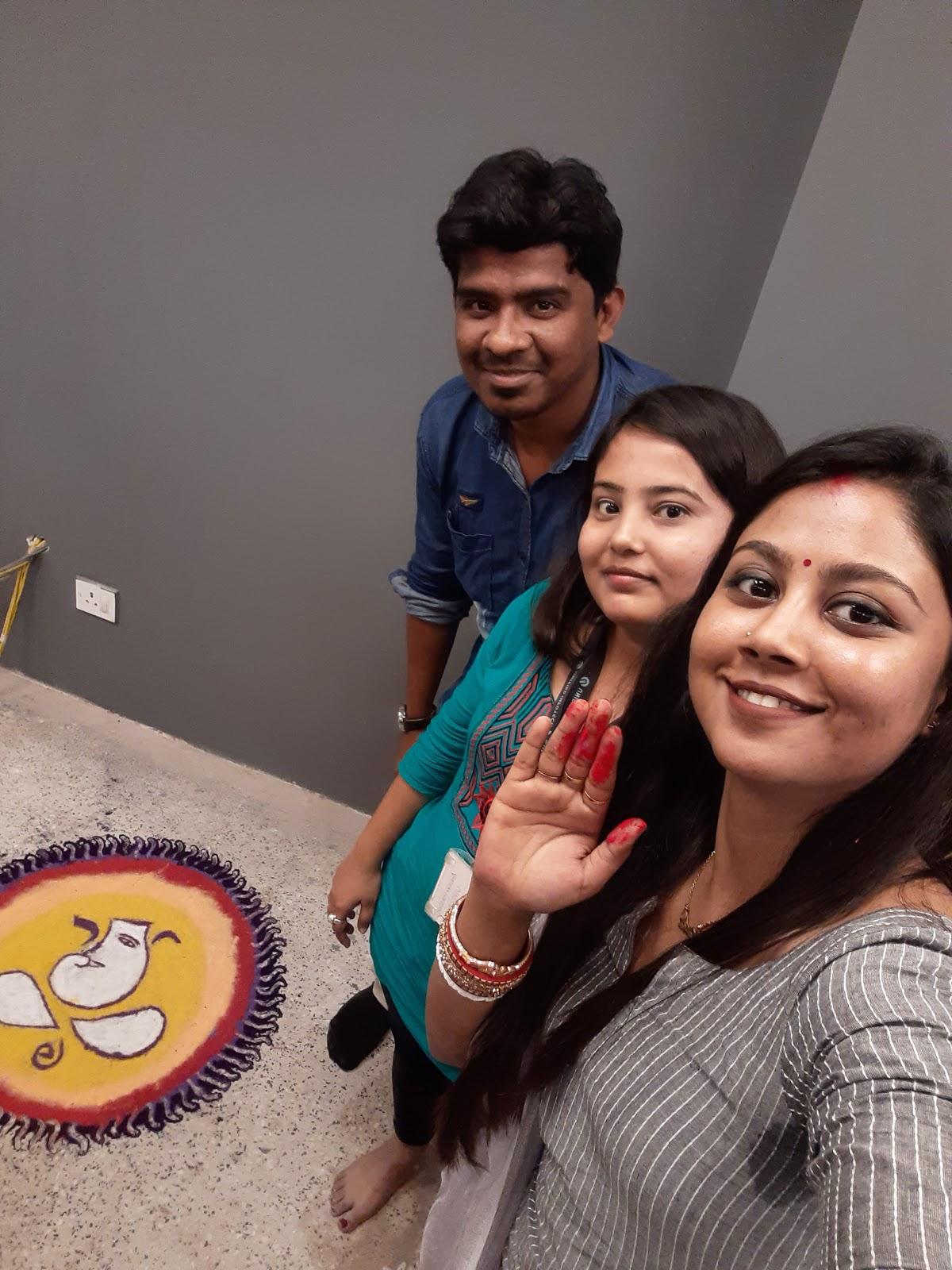 rangoli 2nd prize winner marketing team