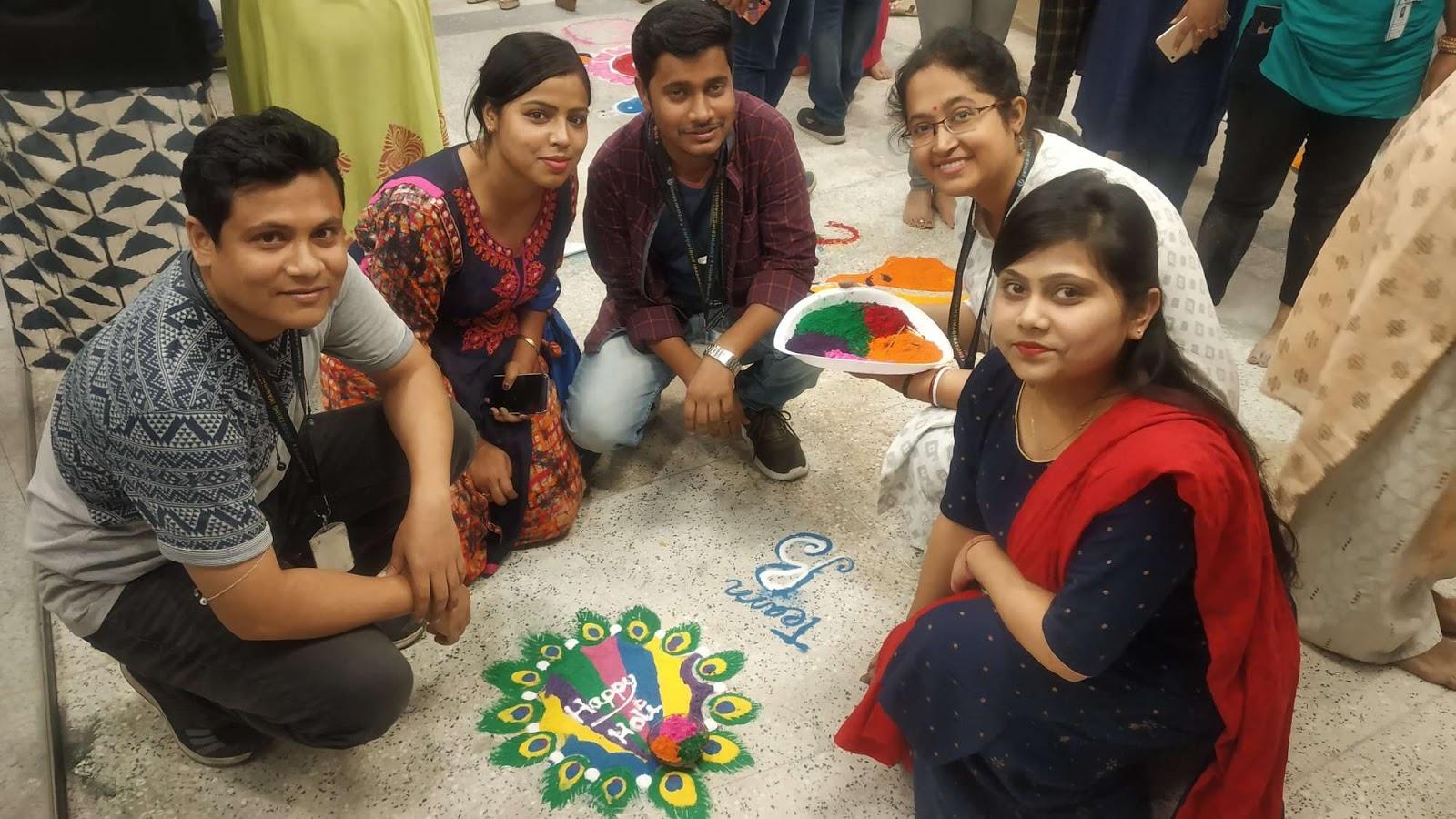 rangoli winner design team