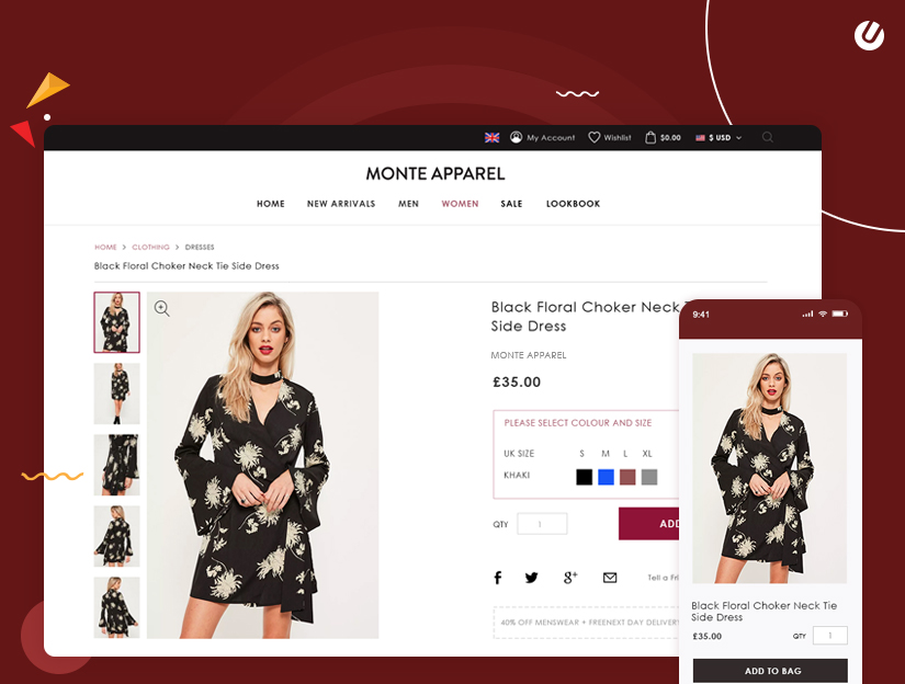 responsive e-commerce design