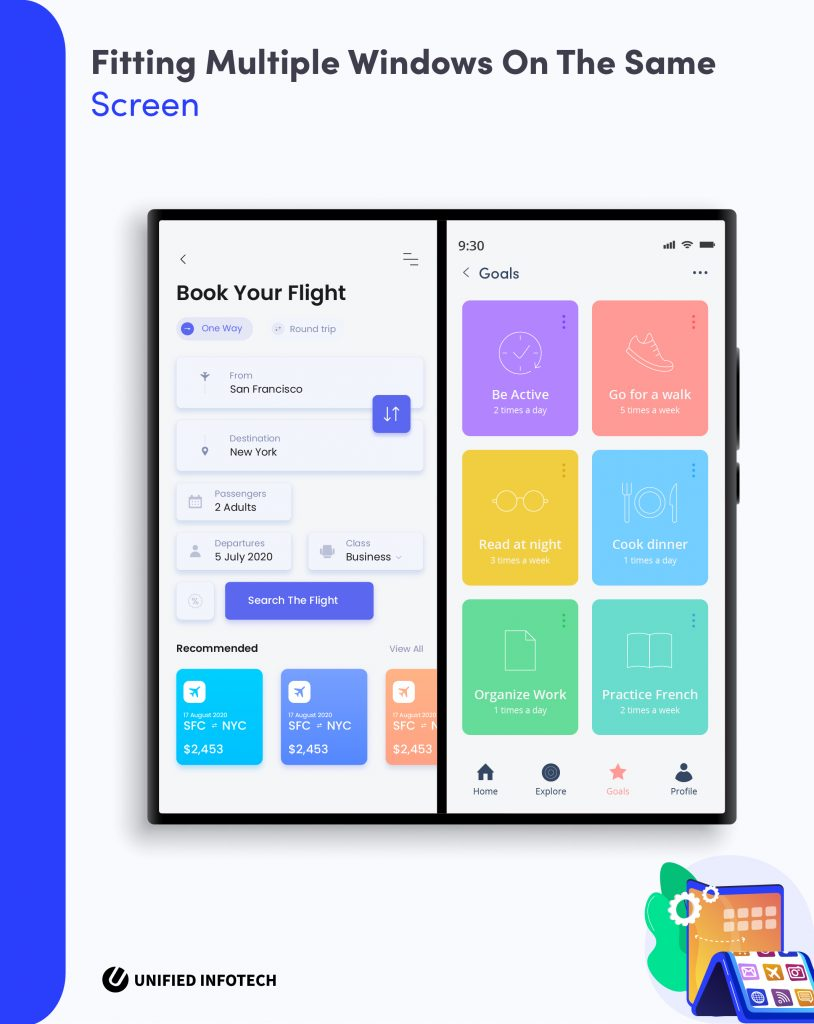 foldable smartphone app development